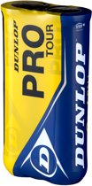 Dunlop PRO TOUR 2X4PET PRINTED - Geel - Tennisballen