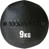 RS Sports Wallball - 1x 9 kg - PVC - Zwart - geschikt voor Crossfit en Fitness