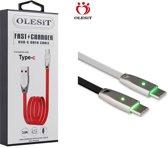 Olesit Gecertificeerde TPE TYPE-C USB-C Kabel 1m Fast Charge 3.0A High Speed Oplaadkabel - Geschikt voor Xperia Modellen