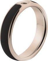 MelanO Twisted Resin Ring - Zwart/Rosékleurig - Maat 48