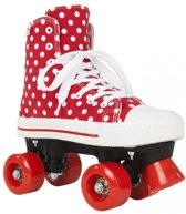 Rookie Rolschaatsen Stippen - kinderen - maat 35 - rood/wit