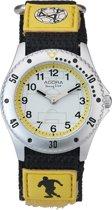Nieuw! Adora jongens horloge- AY4379 met velcro (=klitten) band- voetbal afbeelding