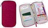 CoshX® Reis portemonnee wijn rood zonder logo - Travel wallet - reisdocumenten houder - paspoorthouder - Paspoorthoesje