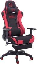 Clp TURBO - Bureaustoel - met voetsteun - stof - zwart/rood