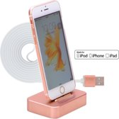 Dock1 Series Aluminium Charge Stand Docking Station met kabel MFI Certified voor Apple iPod / iPhone / iPad - Rose Goud