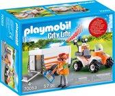 PLAYMOBIL Eerste hulp quad met trailer - 70053