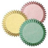 Papieren mini cupcake vormpjes - pastel kleuren - set van 100 - Wilton