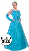 Grote maat blauwe prinsessenjurk voor volwassenen - verkleedkleding / carnavalskleding maat 48/50 52-54