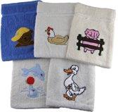 Set van 5 dieren washandjes