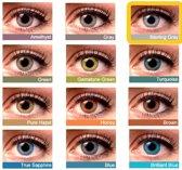 Kleurlenzen, contactlenzen, Sterling Grey kleur, Maandlenzen