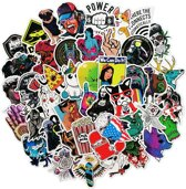 Mix van 50 coole stickers voor laptop, telefoon, s