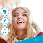 Azuri Ear muffs met 3.5 mm jack en kabel - beige