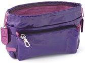 Tasorganizer rundleer - violet / prune