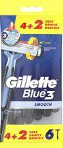 Gillette Blue3 - 6 stuks - Wegwerpmesjes