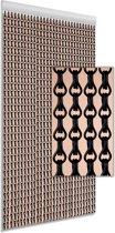 DEGOR Vliegengordijn Aluminium Zwart 100x230