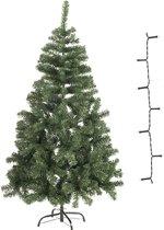 Bellatio Decorations Mini Kunstkerstboom - 60 cm - Inclusief warm witte verlichting