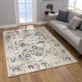 Vintage Vloerkleed Gachet Laagpolig tapijt - 80x150 - Wit