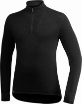 Woolpower 400 Zip Coltrui, black Maat M