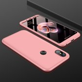 Let op type!! GKK Xiaomi Redmi Note 5 Pro Three Stage Splicing 360 Degree Full Coverage PC Protective Case Back Cover(Rose Gold)