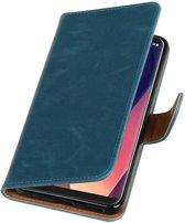 LG V30 Blauw   Premium TPU PU Leder bookstyle / book case/ wallet case    WN™