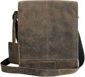 Leather Junky - schouder tas - The Dealer Bag Medium - zwart - leer