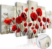 Afbeelding op acrylglas - Scarlet Field [Glass]