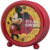 Mickey Mouse wekker rood