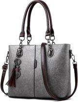 60bd2a92830 Handtas - Schoudertas - Western Bag Nubuck Style Tas - Grijs. Vergelijk