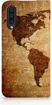 Standcase Hoesje Samsung Galaxy A50 Design Wereldkaart