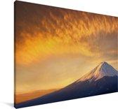 Zonsopgang bij de berg Fuji in Japan Canvas 60x40 cm - Foto print op Canvas schilderij (Wanddecoratie woonkamer / slaapkamer)
