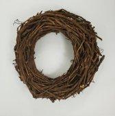 Kransen - Grape Wood Wreath 50*9 Cm. Natural