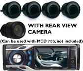 Caliber Park500 - 4 Parkeer sensoren incl achteruitrijcamera - Zwart