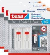 Tesa Smart Mounting Spijker gevoelige oppervlakken 1 kg 3 stuks