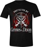 The Walking Dead - Grimes/Dixon Protection Logo Men T-shirt - Black
