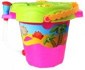 Free And Easy Strandset Beach Toys 28 Cm Roze 9-delig