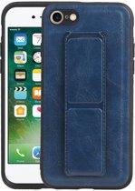 Grip Stand Hardcase Backcover voor iPhone 8 / 7 Blauw