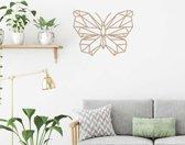 Wanddecoratie Vlinder - Bruin