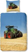 Good Morning 4208-P Tractor - kinderdekbedovertrek - eenpersoons - 140x200/220 cm  - 100% katoen - multi