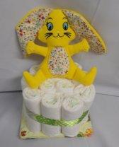 1 laag pampertaart bunny geel