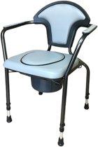 Toiletstoel Po stoel WC stoel verstelbaar Grijs