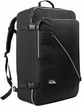 CabinMax Handbagage Rugzak - Handbagage Backpack 38l - Reistas - Rugtas - Schooltas - Zwart (CANBERRA)