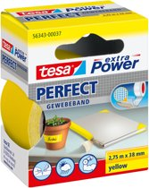 Tesa extra power perfect textieltape 2,75 m x 38 mm geel