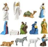 kerststal Minifiguren 12 stuks