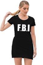 FBI feest / verkleed jurkje zwart voor dames - politie jurk S (38)
