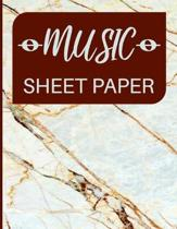 Music Sheet Paper: Blank Staff Manuscript for Composers