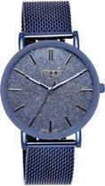 Regal - Regal mesh horloge glitter blauw