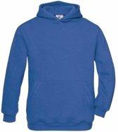 Kobaltblauwe katoenmix sweater met capuchon voor j 5-6 jaar (110/116)