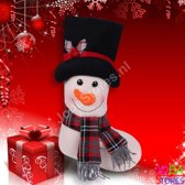 Kerst Sok Sneeuwpop (48cm)