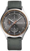 BERING 11741-879 - Horloge - Nylon- Zilverkleurig - Ø 41 mm