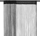 vidaxl draadgordijnen 140x250 cm zwart 2 st